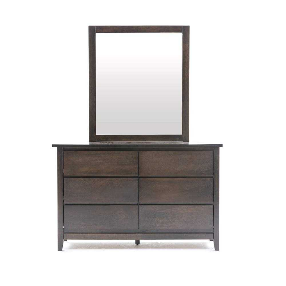 Mizlaan Dressing Table with Mirror for Bed Room(Walnut)