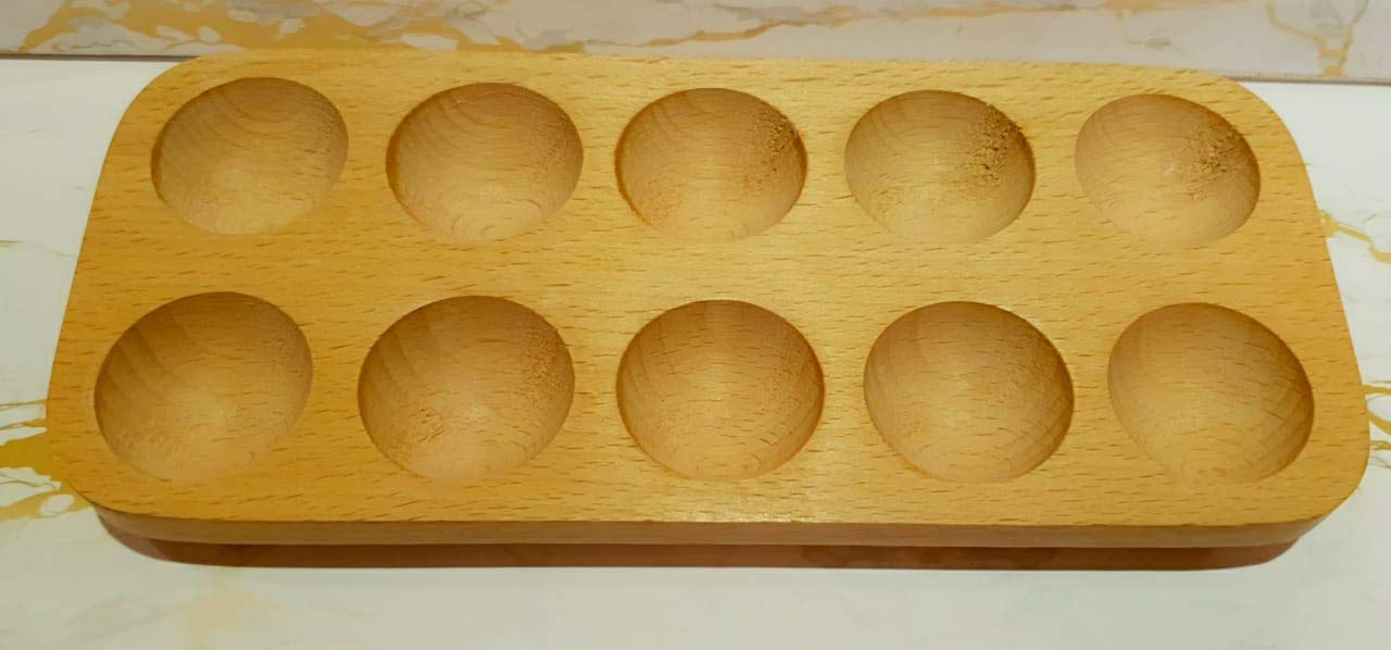 Bhoola Wooden Egg Case/Egg Tray for 10 Eggs (Brown)