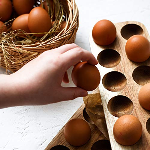 Vojoch Egg Stand 12 Eggs Usable in Kitchen Refrigerator, or Countertop for Display or Storage