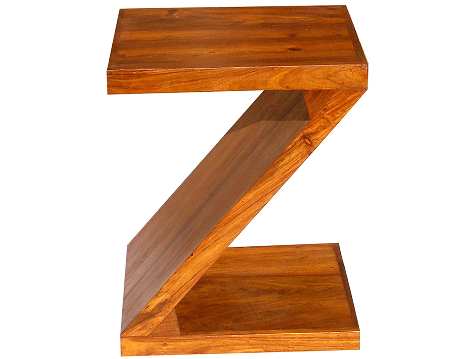 Togam Furniture Z Shape Bedside End Tables for Living Room (Honey Brown Finish) Specially Designed Quality Certified Furniture For Home Living Room Bedroom Guest Room And Corporate Office Collection