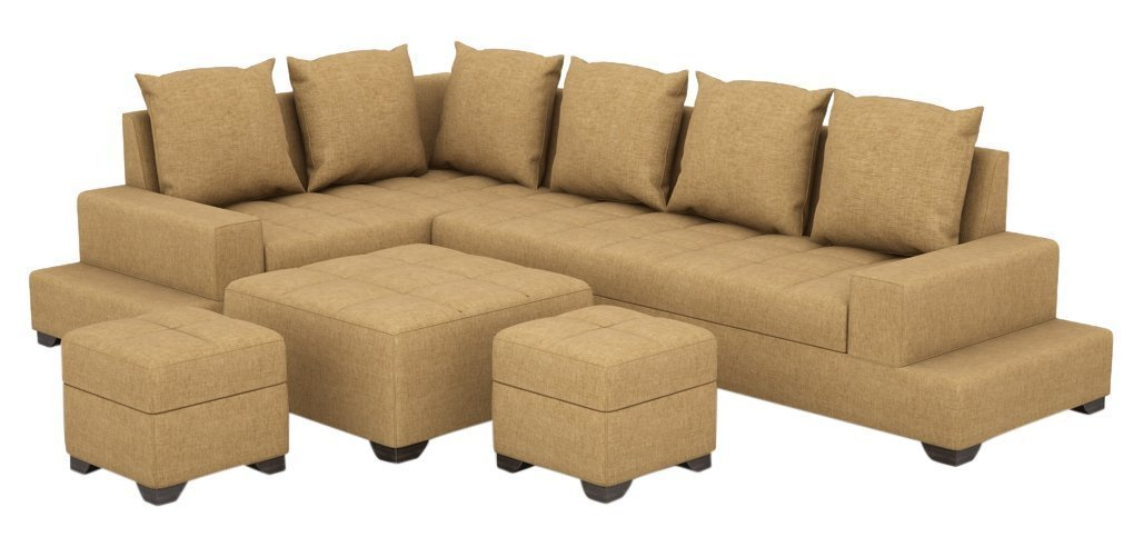 Comek l shape sofa design with table 6 Seater L-Shaped Sofa Set for Living Room