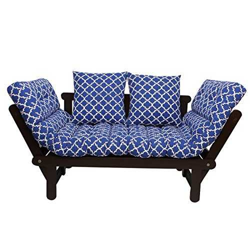 Belcoom futons with Mattress , futon furniture Blue (Matt Finish, Ochre)