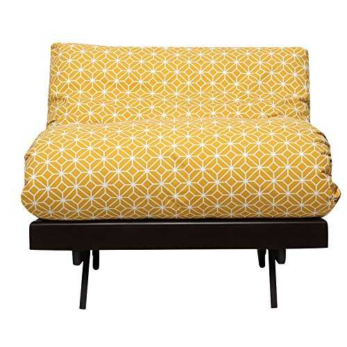 Refar Futon yellow with Mattress (Matt Finish, Ochre)