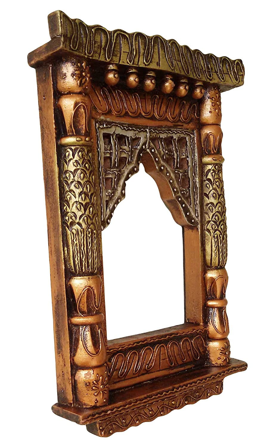 Tonki wooden Jharokha for Wall  (Brown)