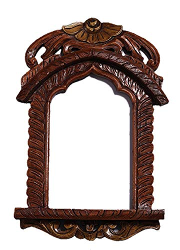 Gorin wooden Jharokha ,antique wooden jharokha ( Brown)