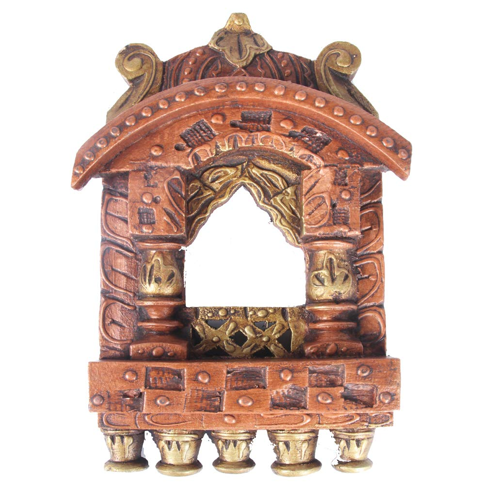 Pojki Wooden Jharokha Copper Embossed 10.5