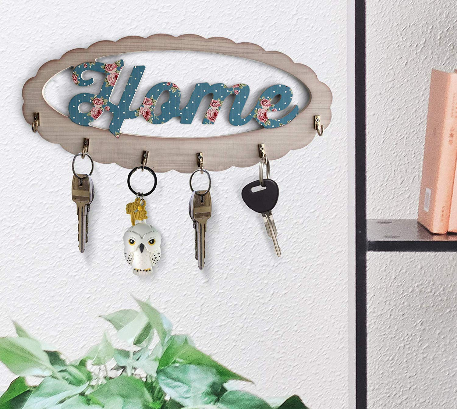 Zbno Wooden Key Hanger Holder Key chain Holder Antique for Wall Mounted Home Decor