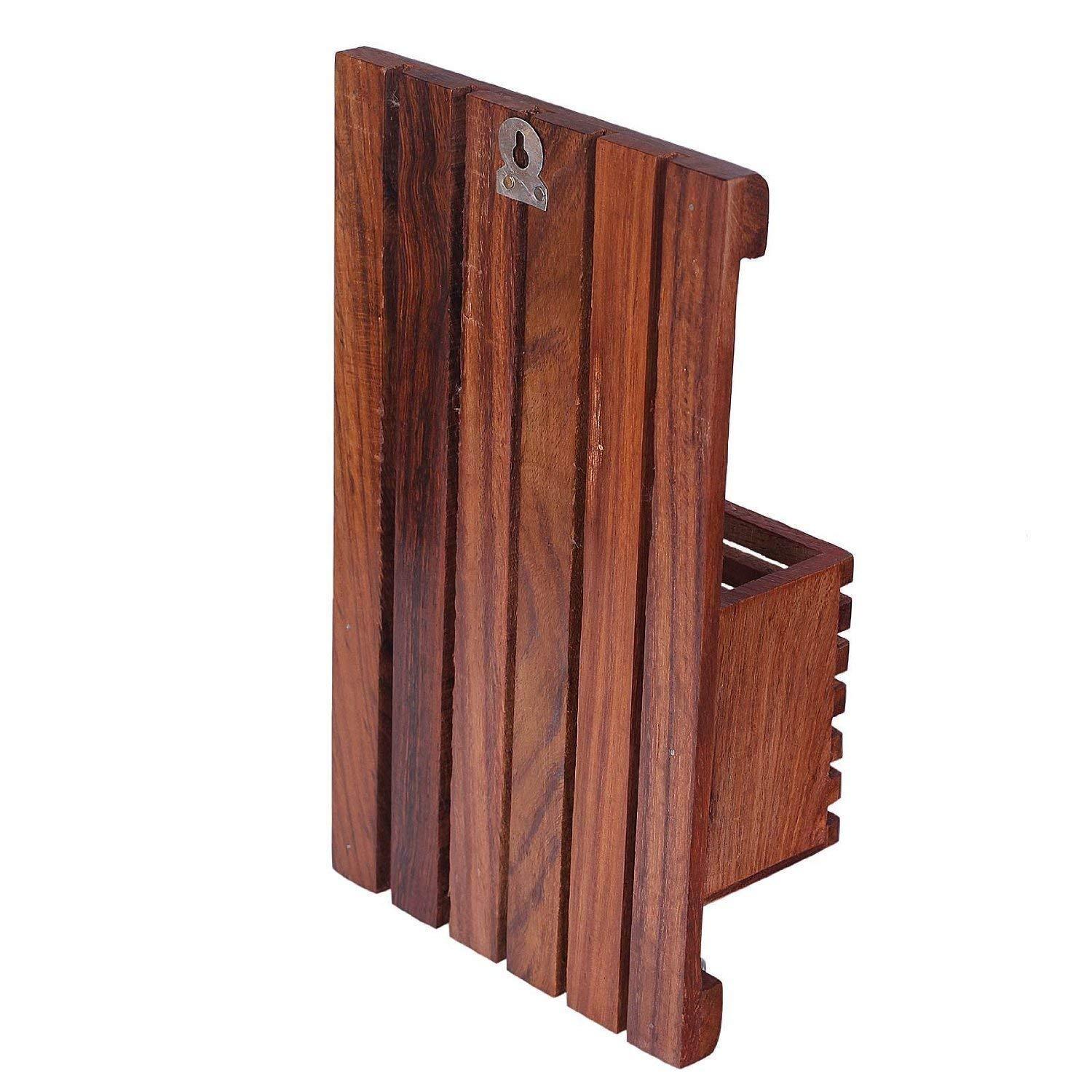 Amoones Wooden Key Holder for Home Office Bedroom Living Room
