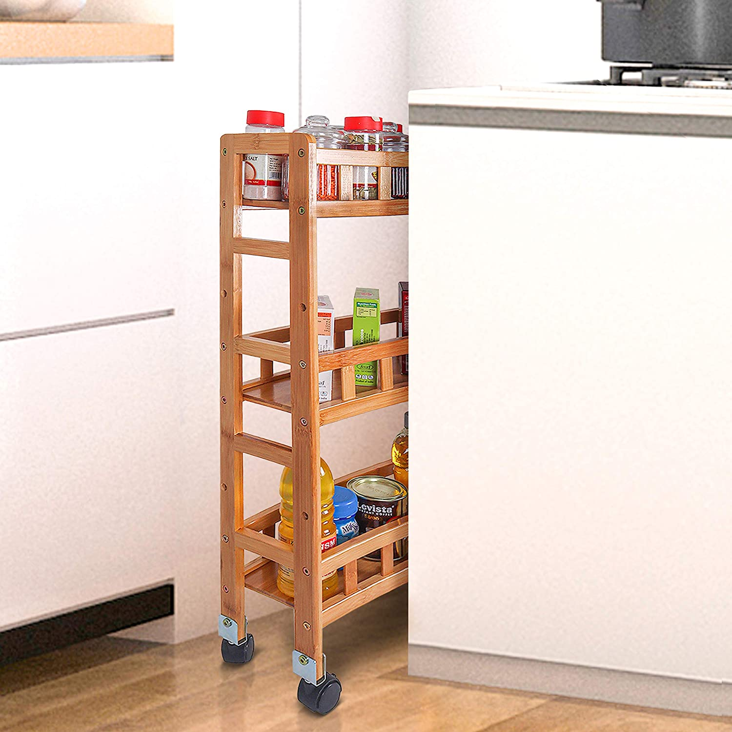 Isapin 3 Layer Storage Organizer Rack with Wheels