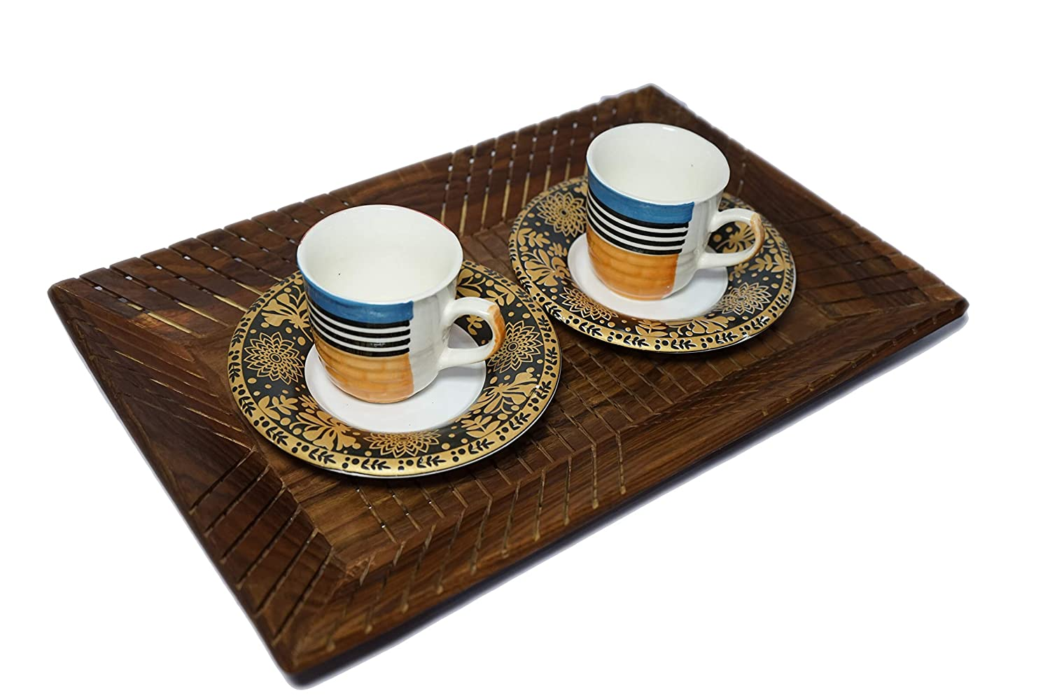 Agukoi Serving Tray (Tea, Coffee, Snacks, Water) Decorative Tray/Platter for Home