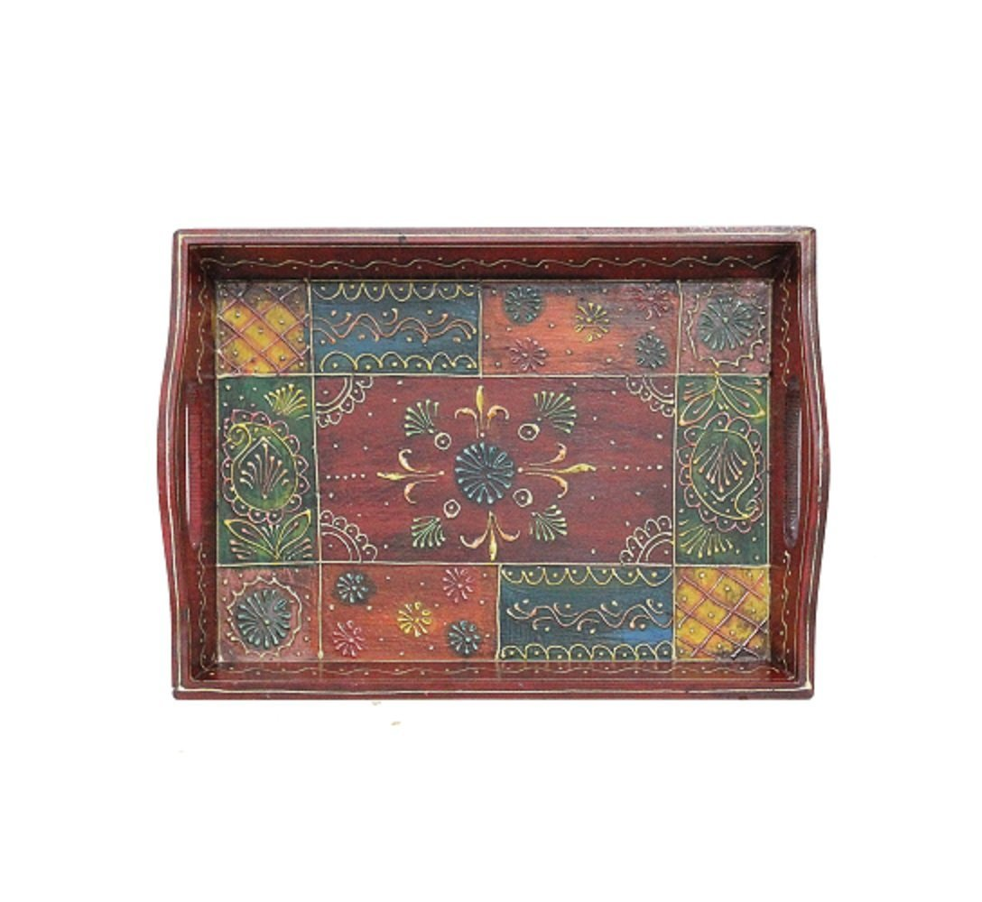 Sptsel wooden Multicolour Tray