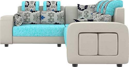 craft a to zL-Shape Sectional Sofa Set with Puffy Blue