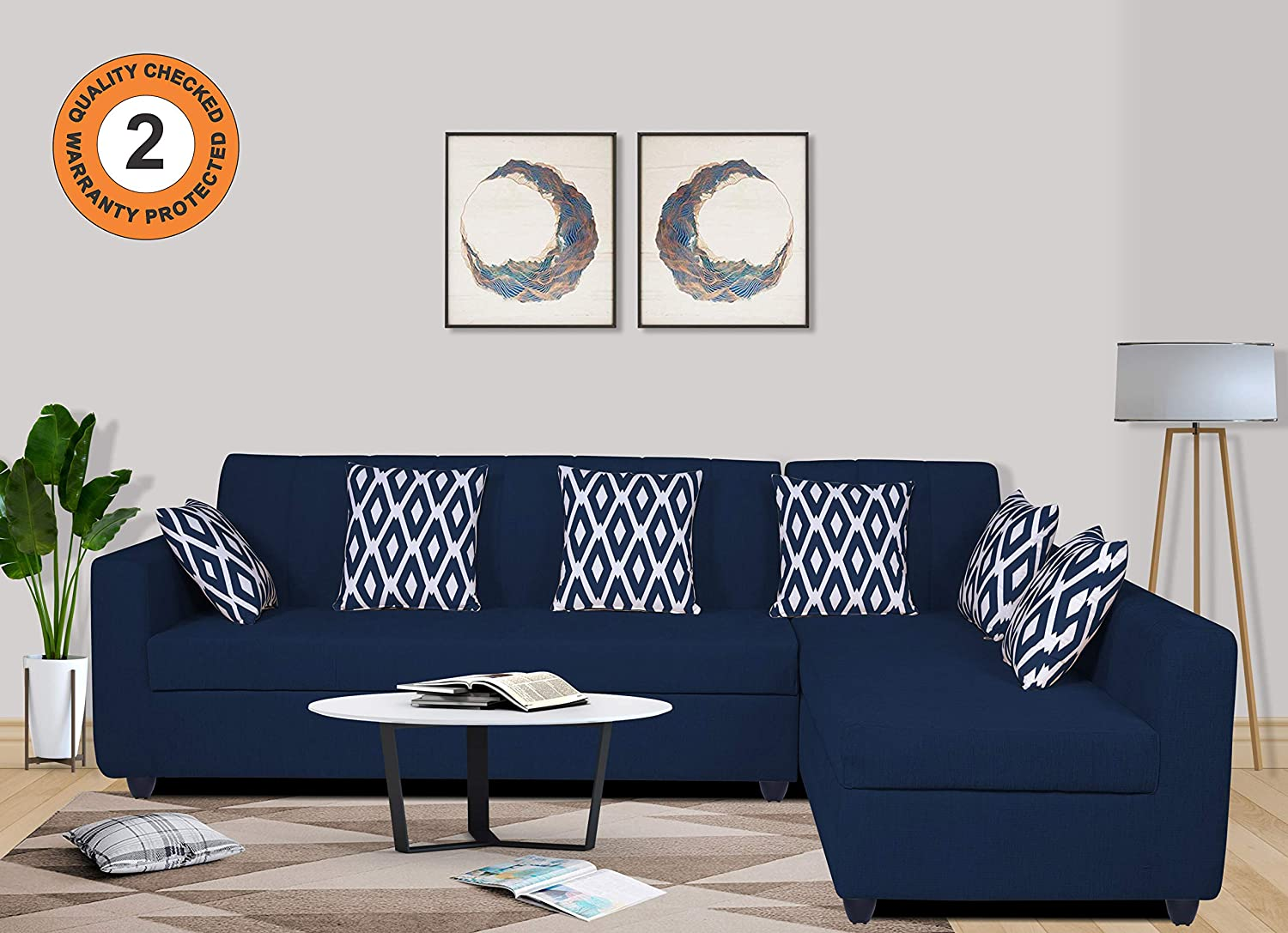 Toxill l shape sofa for drawing room 5 Seater coner Sofa Set