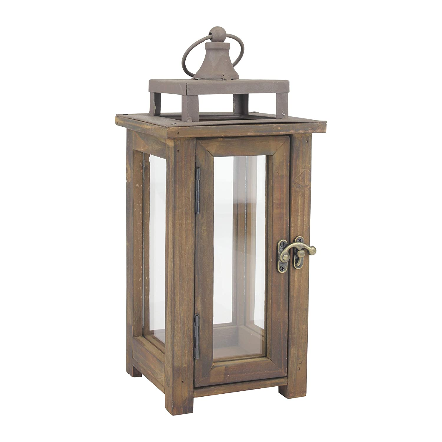 solid wood  Wooden Candle Lantern, Use As Decoration for Birthday Parties, a Rustic Centerpiece, or Create a Relaxing Spa Setting, for Indoor or Outdoor Use, Small