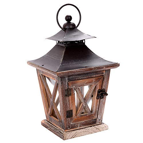 Anosink  wooden Metal Top Wooden antique,lantern decor