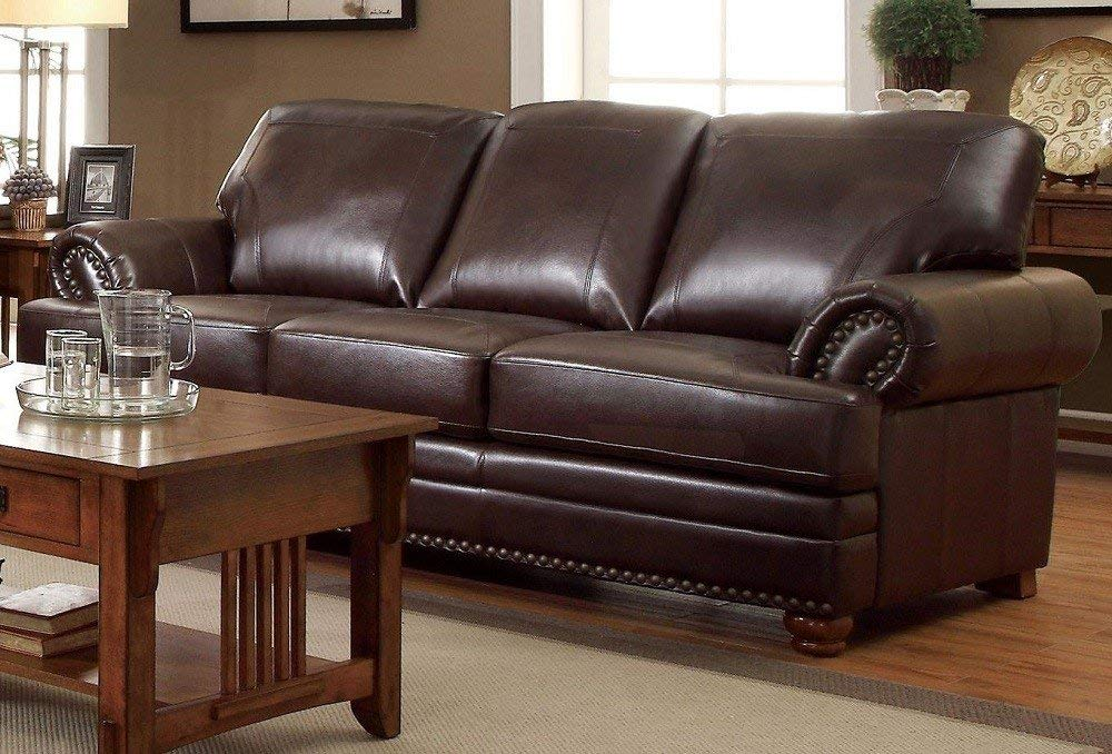 Soved 3 seater sofa designs india for Home & Office (Brown)