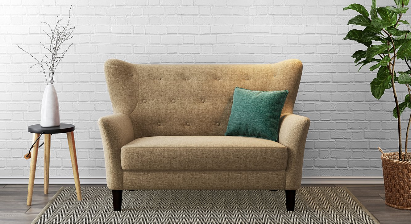 Fomsako  Loveseat, love seats for small spaces(Colour : Brown)