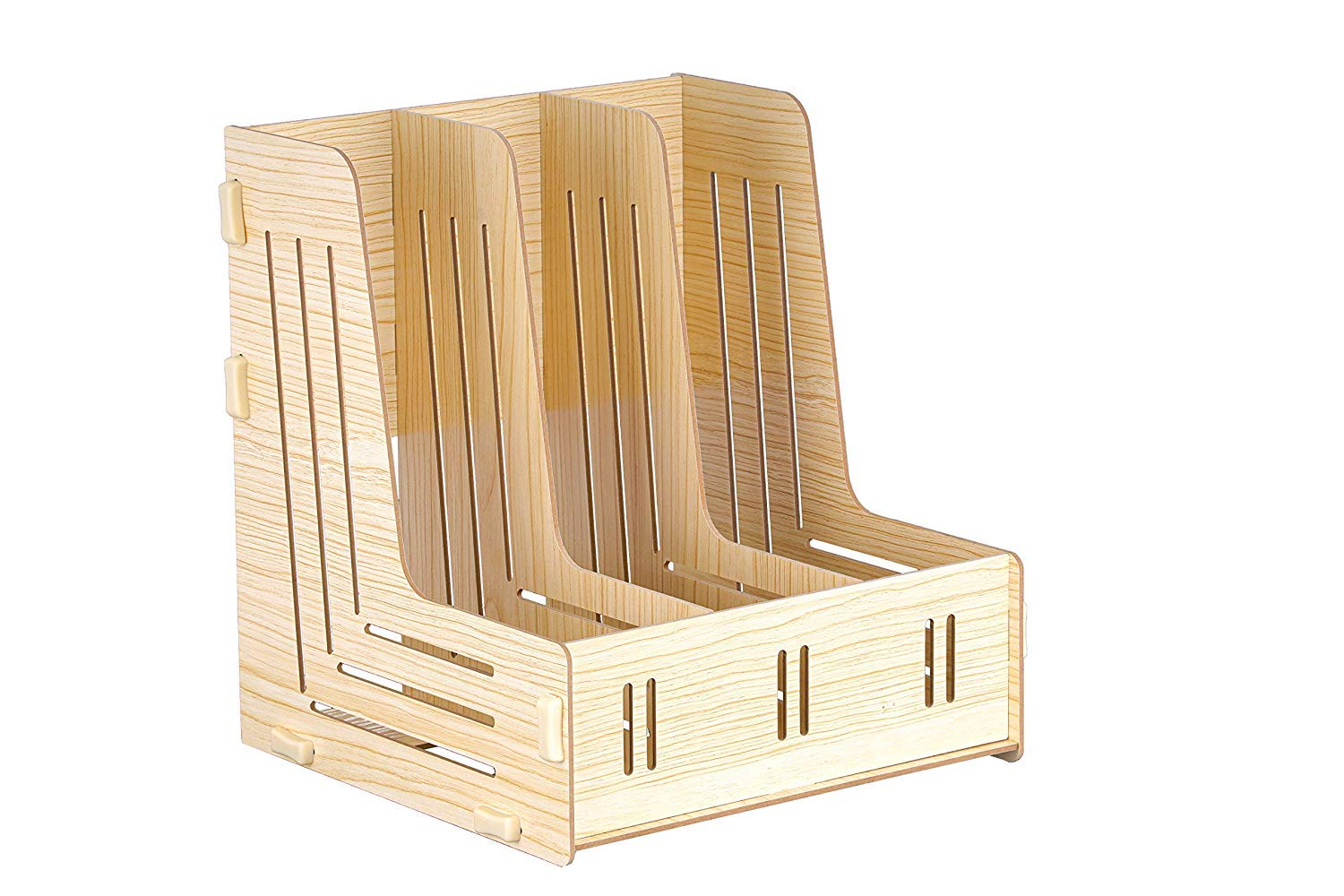 Rozli wooden Magazine File Holder Organizer Multi Trays Papers Documents Sorter Shelf Letter Tray ILE Tray