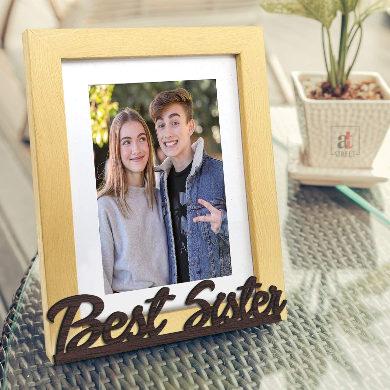 Nheye  Best  Customize Table Photo Frame for Sister