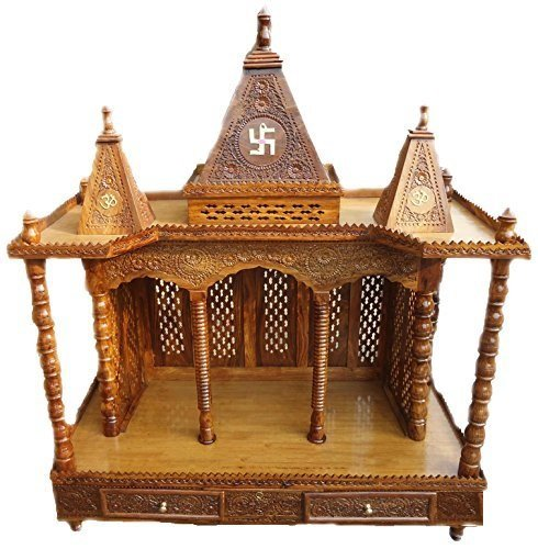 Romar Wooden Rosewood / Sheesham Temple / Folding Wooden Mandir