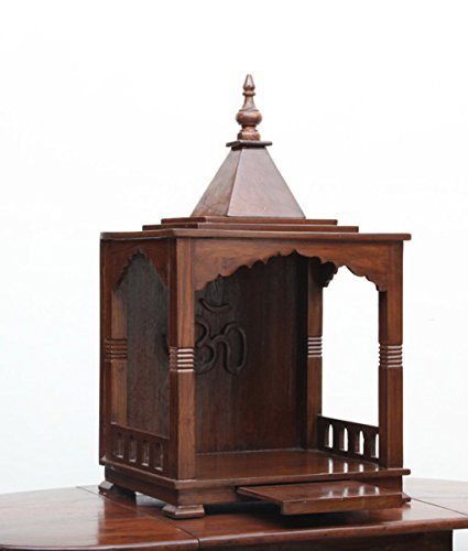 Lomiz Wooden Classic Look Temple/Wooden Mandir/Prayer Unit in Sheesham Wood