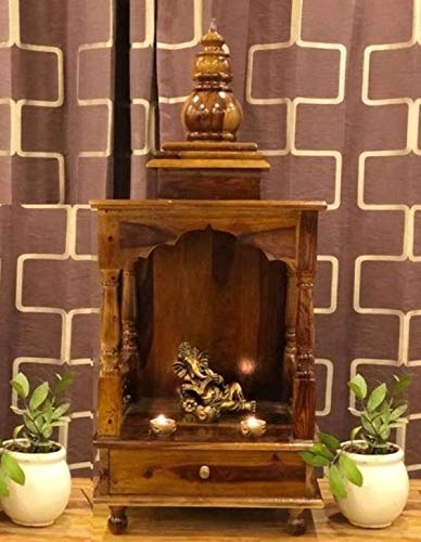 Safkov Home Temple Fully Fixed Wooden Mandir for Home & Office Prayer Unit,prayer unit for home