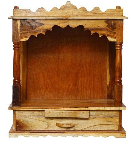 Aloobin Wooden Home Temple for Standard Size in Gloss Finish prayer unit for home