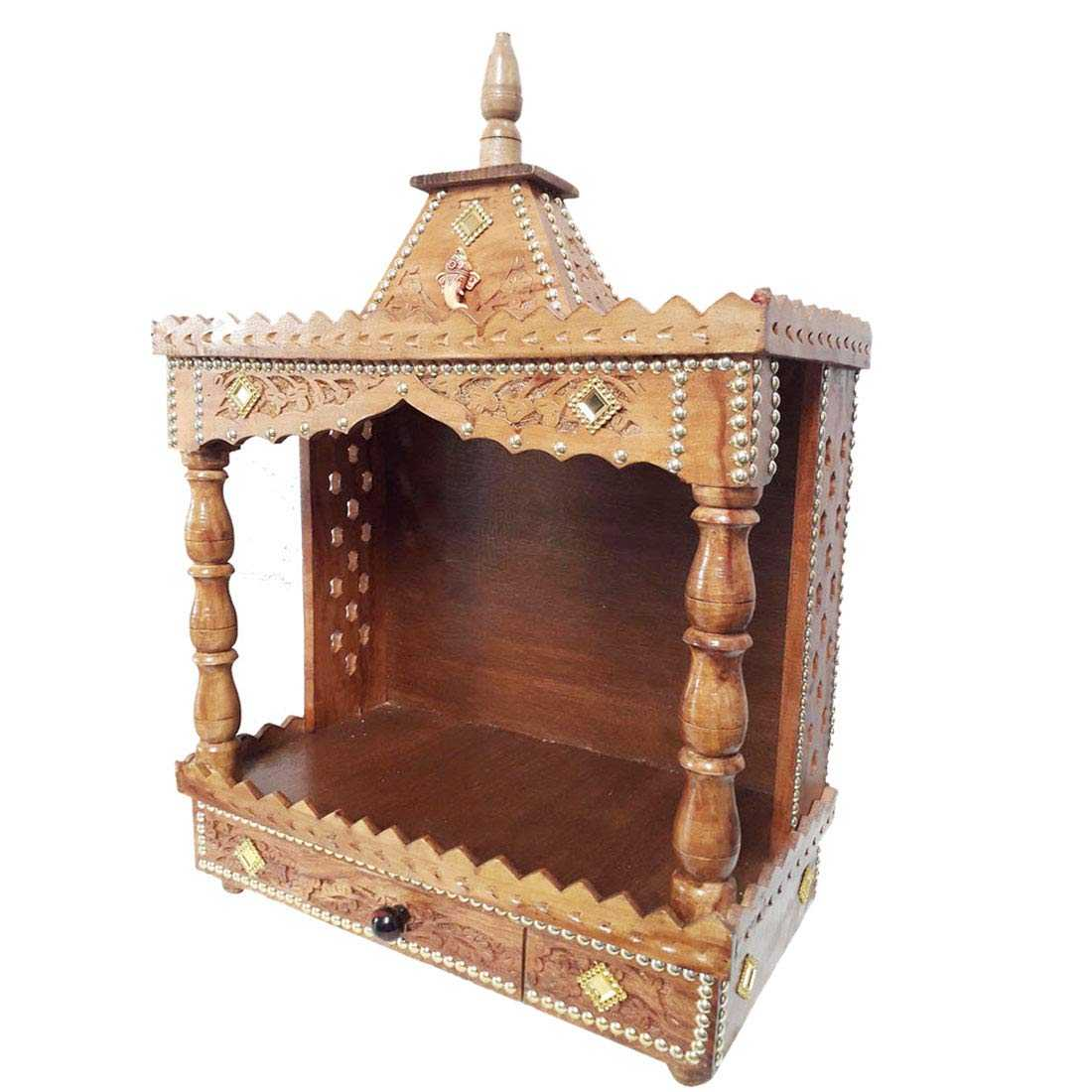 Bujame Wooden Open Temple for Home