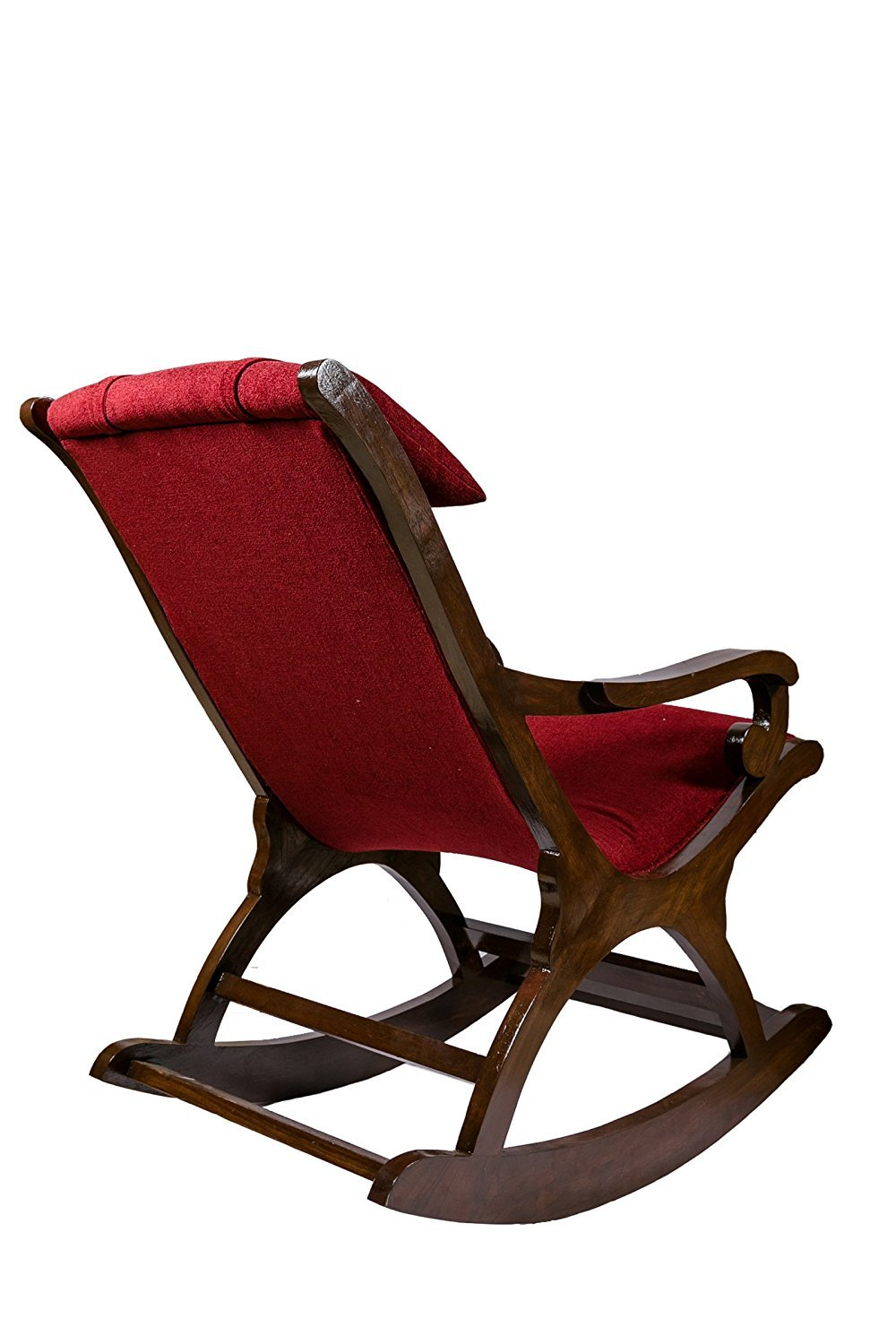 Billaiy Rocking Chair Teak Wood Rocking Chair Wooden Rocking Chair for Living Room Home Decor