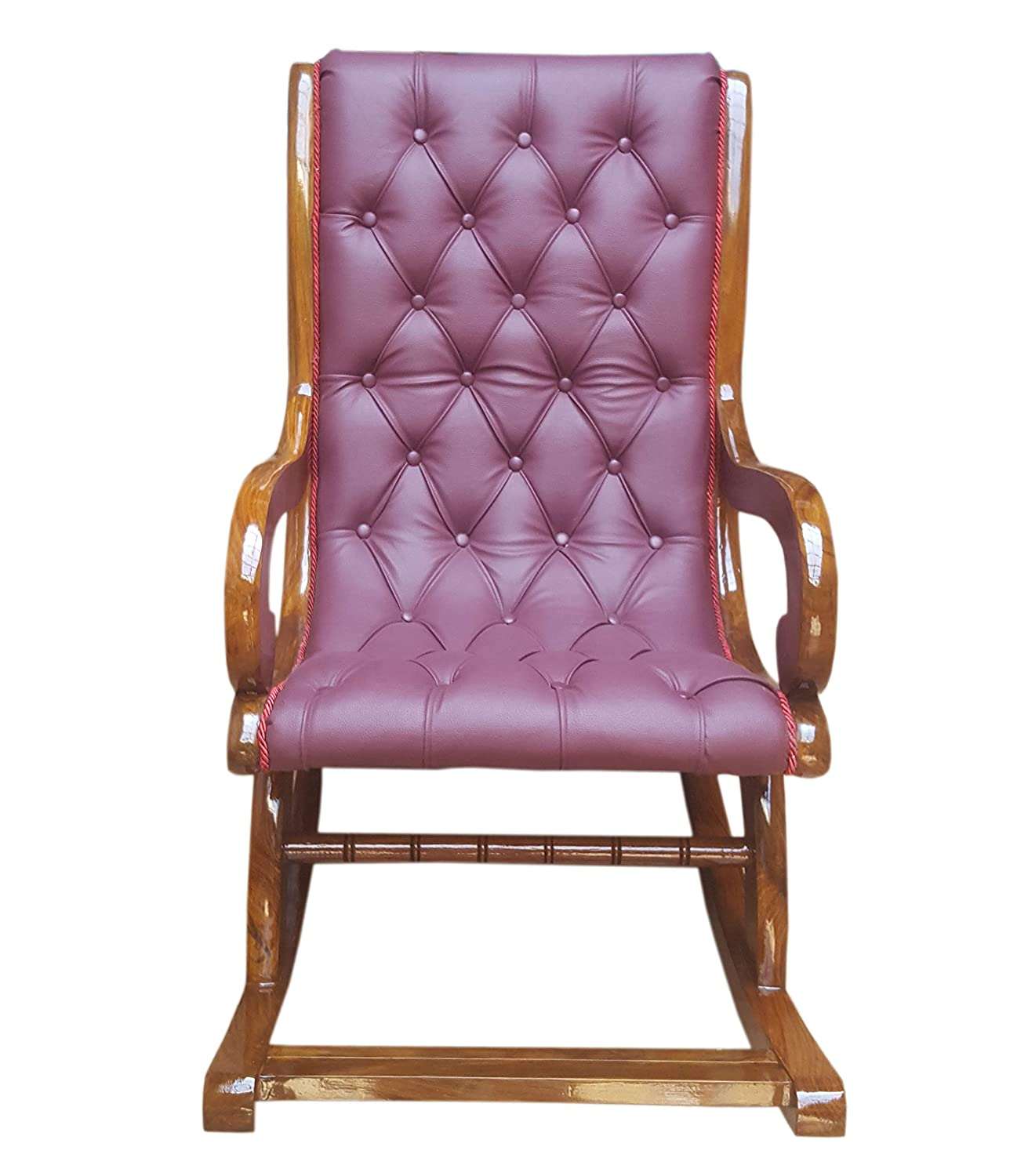 Marcik ROCKING CHAIR FOR LIVING ROOM OF SHEESHAM WOOD