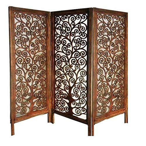 Penul Modern Look Small Size Wooden Partition Room Separator Tree Design Decor Screen Panel (3)