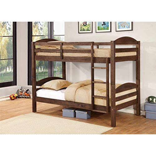 Sugben Double Size Bunk Bed for Bedroom  Brown