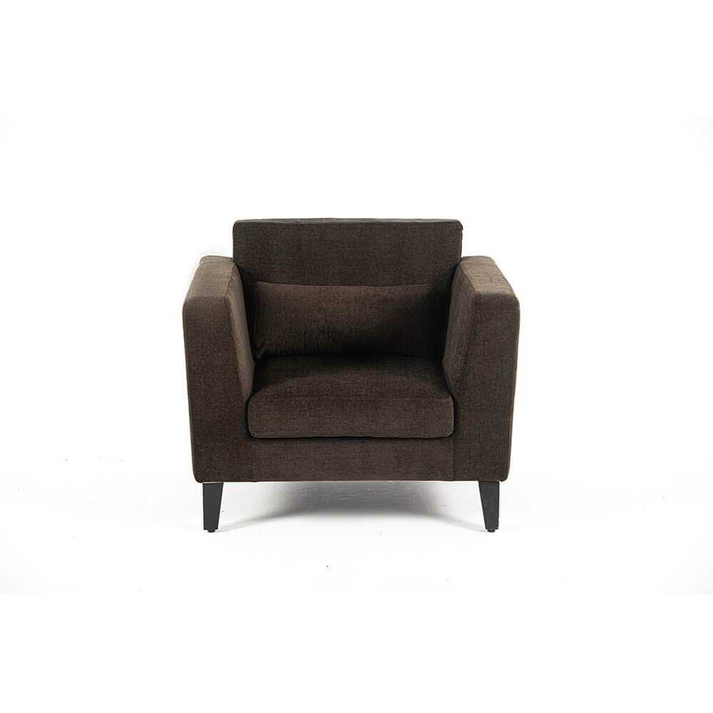 Mosent 1 Seater Sofa Best for Relaxing(Brown)