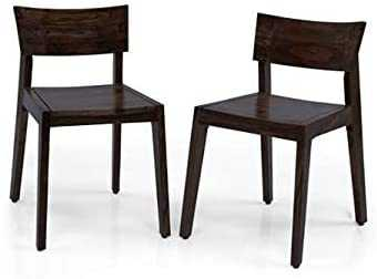 Boger sheesham wood study  chair for home set of 2 (Black Oak Finish)