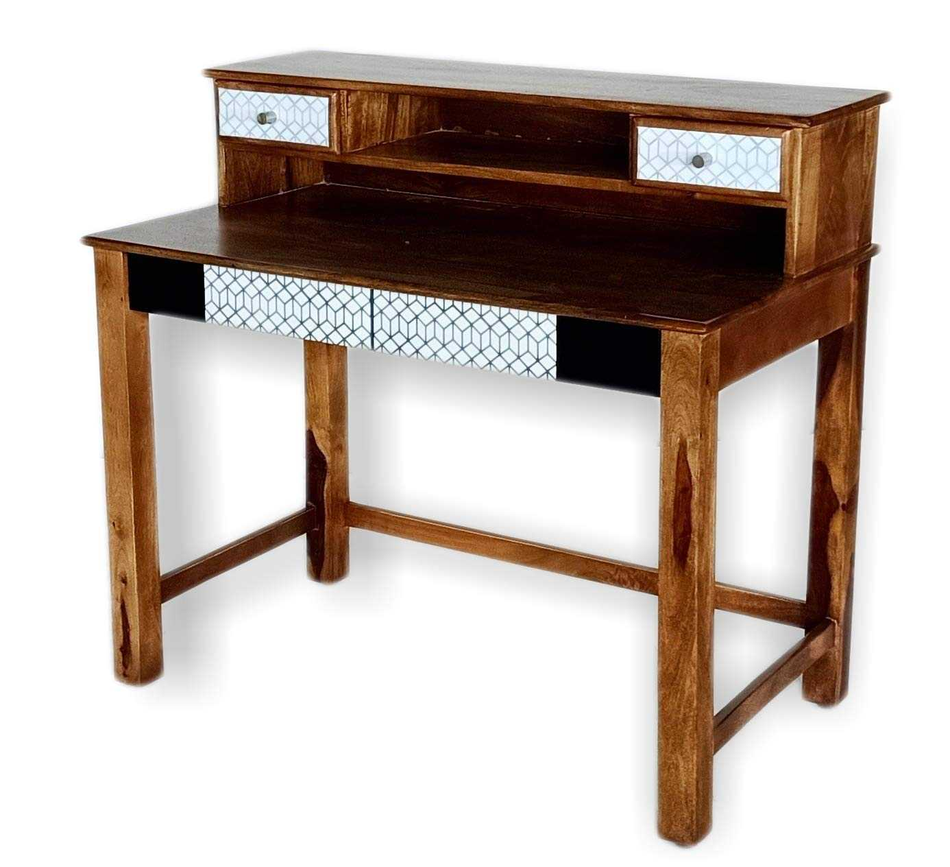 Solan Wooden Study Desk Table for Home and Office  Brown Finish