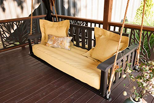 Fosark Outdoor Wooden Hanging Swing Chair/Jhulla for Garden/Home/Balcony Brown Swing Chair