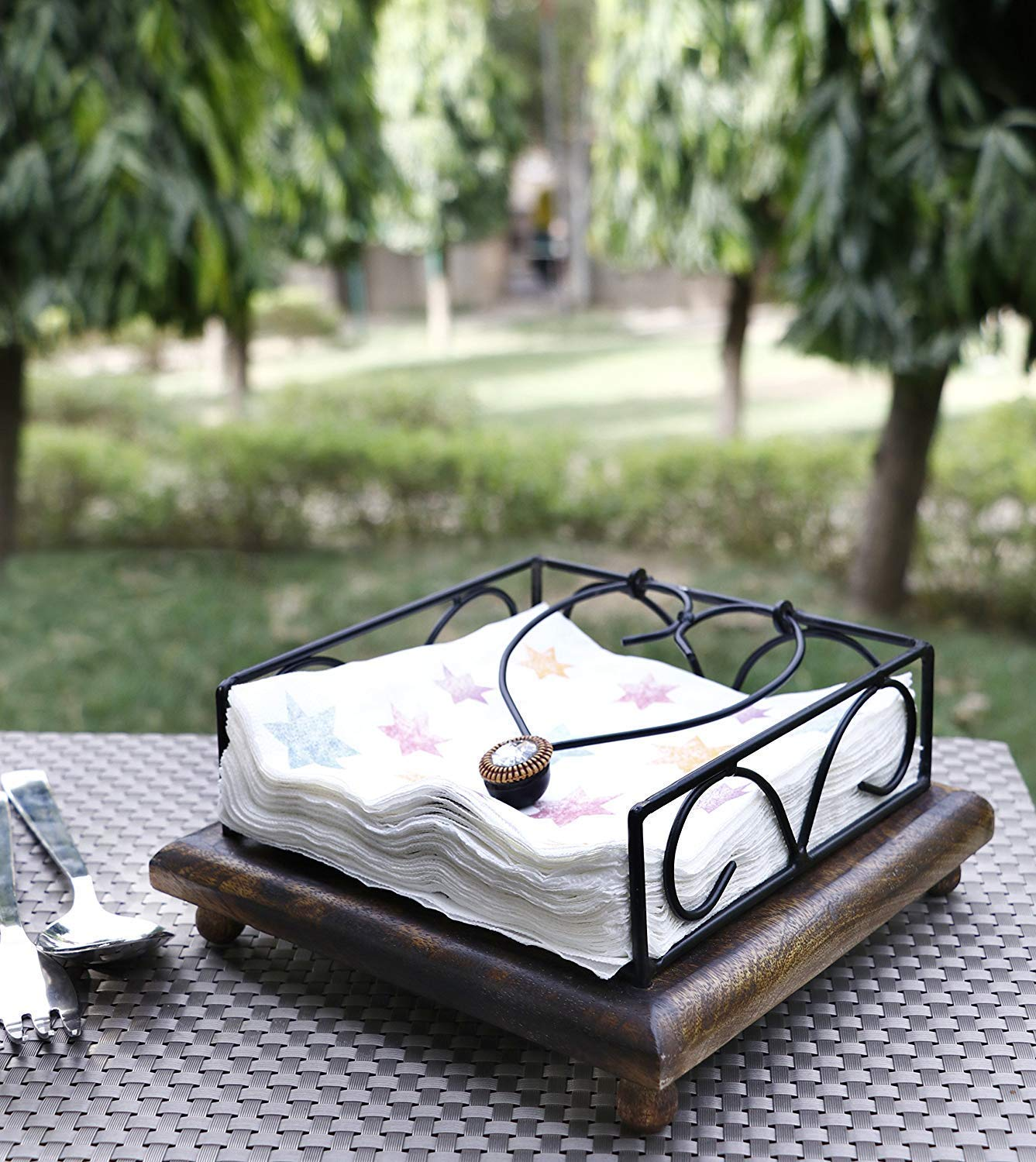 Afoyu Tissue Holder Napkin Holder for Dining Table