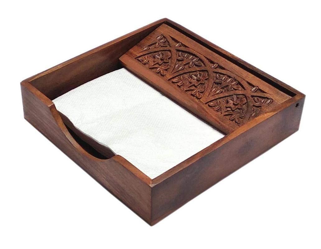 Jhachu Square Shape Full Carved  Tissue Paper this tissue holder