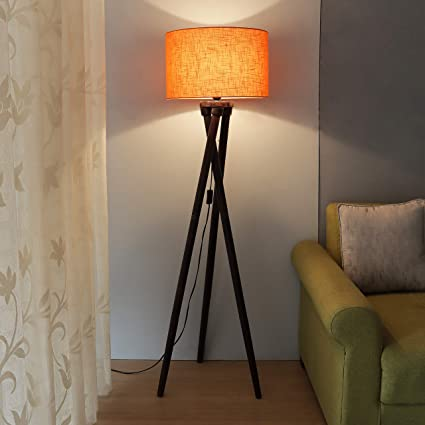 Nachme Tripod Floor Lamp with Shade for Living Room
