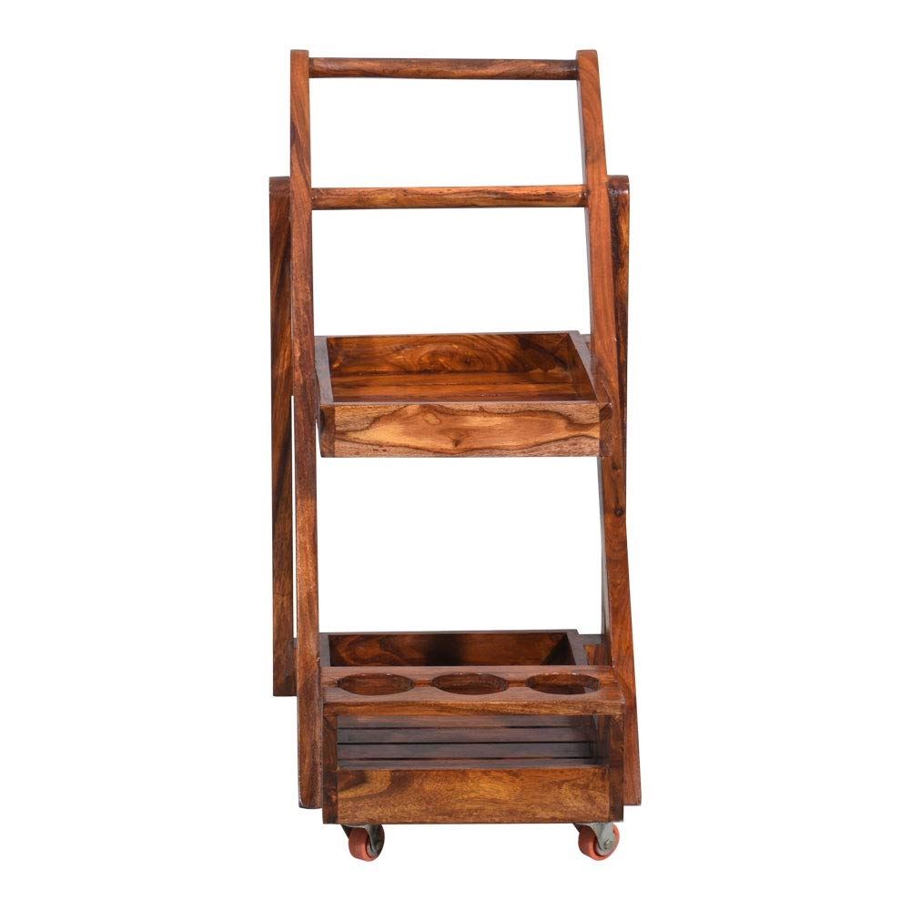 Doomnic Bar Cabinet Trolley  wooden bar trollye for Living Room