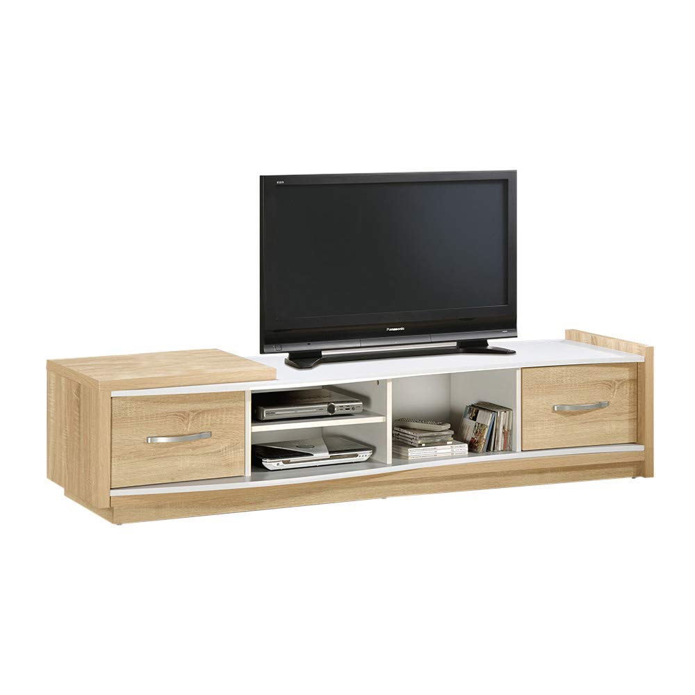 Jaljo Howei TV Unit Entertainment, TV Unit for Living Room -Oak/White