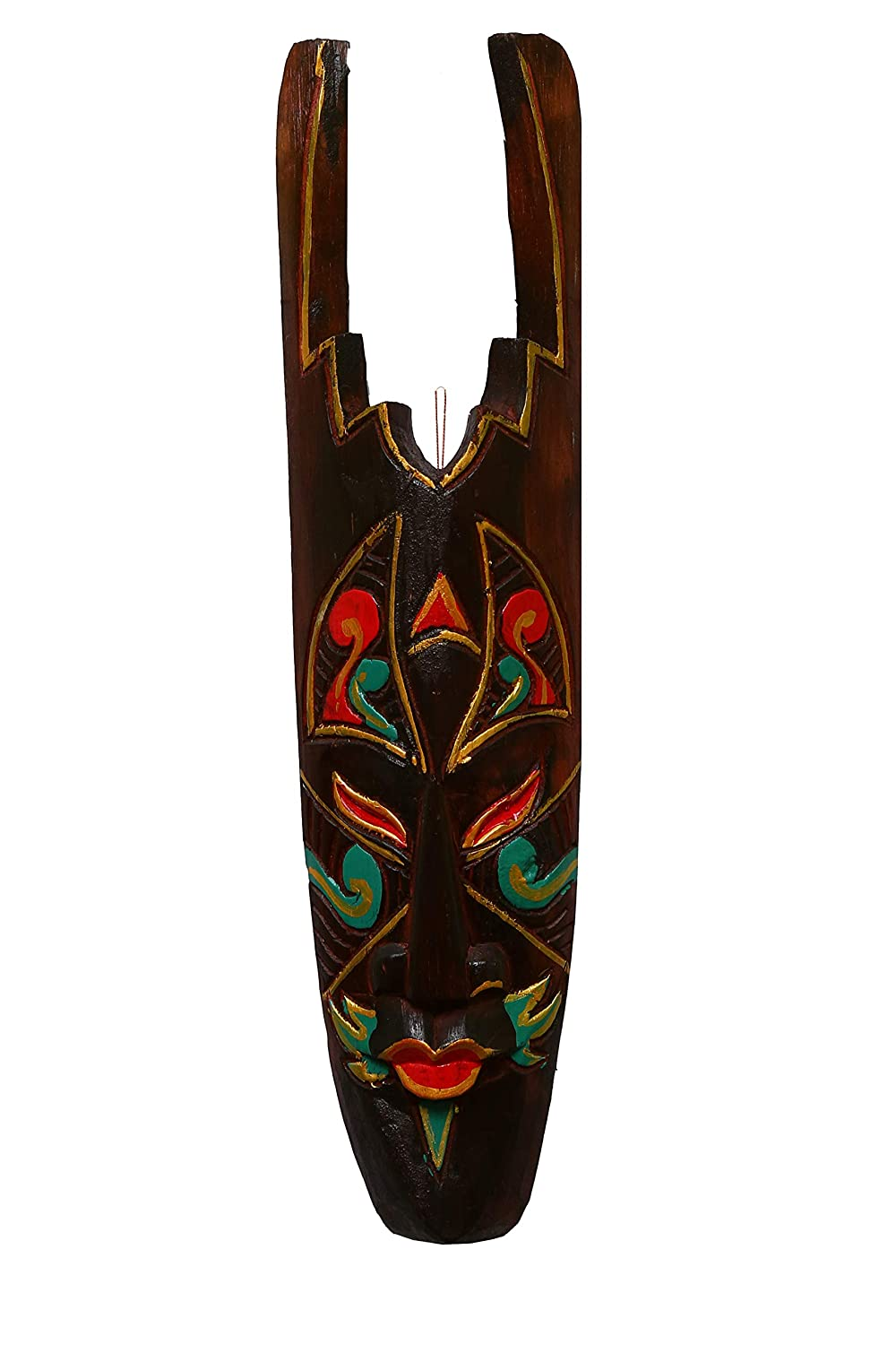 Nolin Wooden Wall Decor Mask (Multicolour)