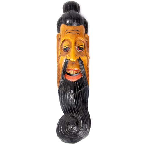 Nokier Wooden Wall Decorative Long Lama Mask