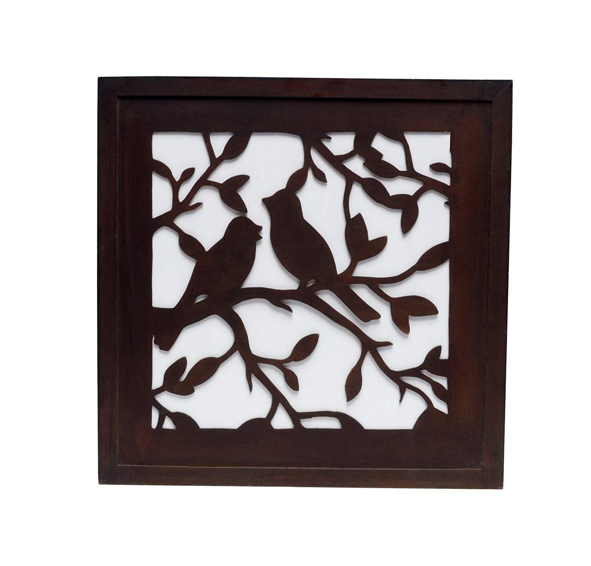 Kimji Wooden Decorative Wooden Wall Panel Hanging (Brown)