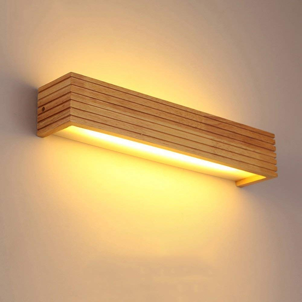 Khitu Pine wood Sleek Line Up & Down Warm Wall Lamp