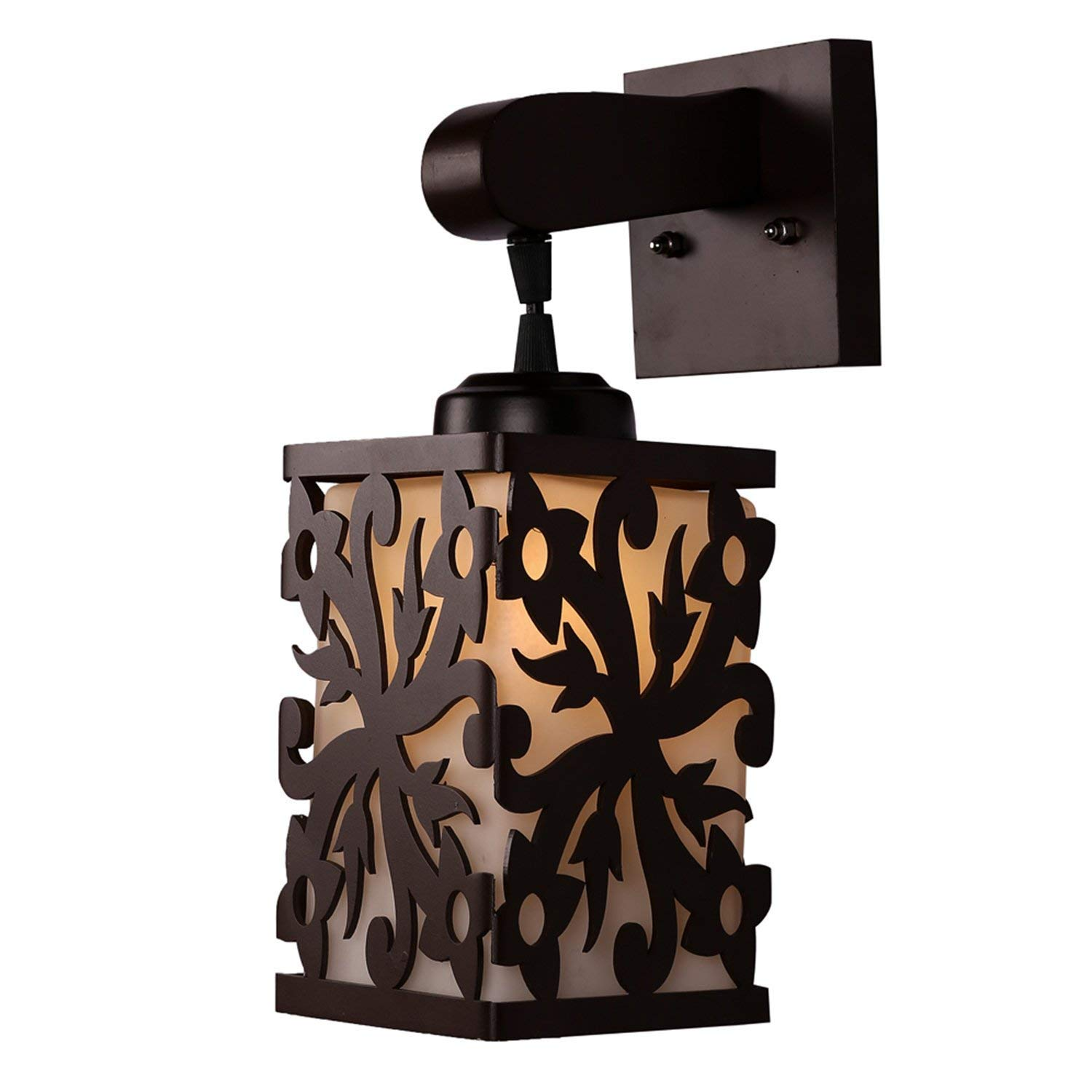 Vojok  Mdf  Brown Decorative Wall Lamp