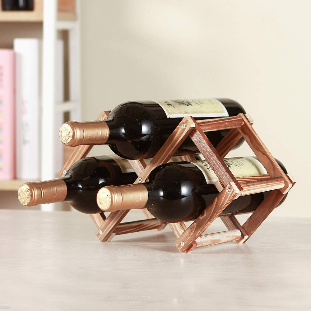 Donint 3 Bottle Wine Rack Classic Antique Style, wine rack decor